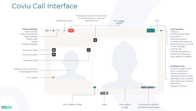 Coviu Call Interface Image