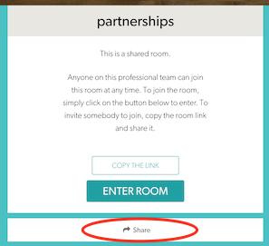 Coviu Room Share Button