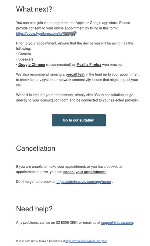 Nookal Integration Consultation Email
