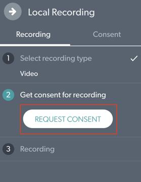 Request Concent Button