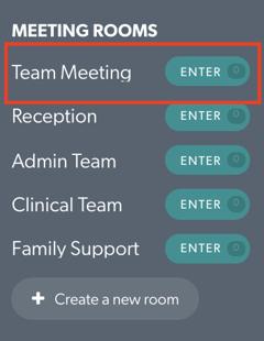 Team Meeting Rooms