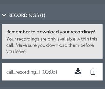 Recording Listing