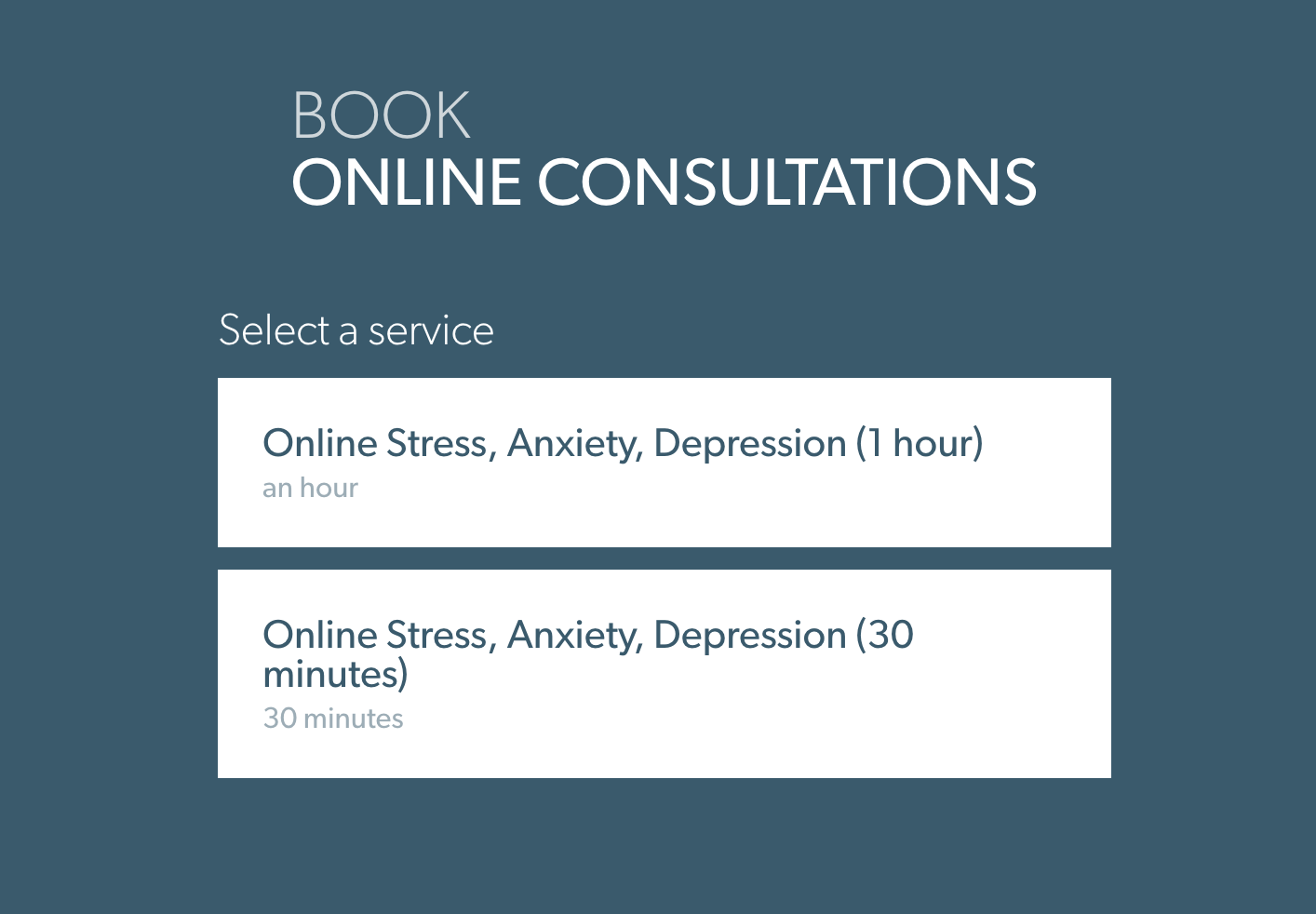AcuityScheduling Consultation Booking