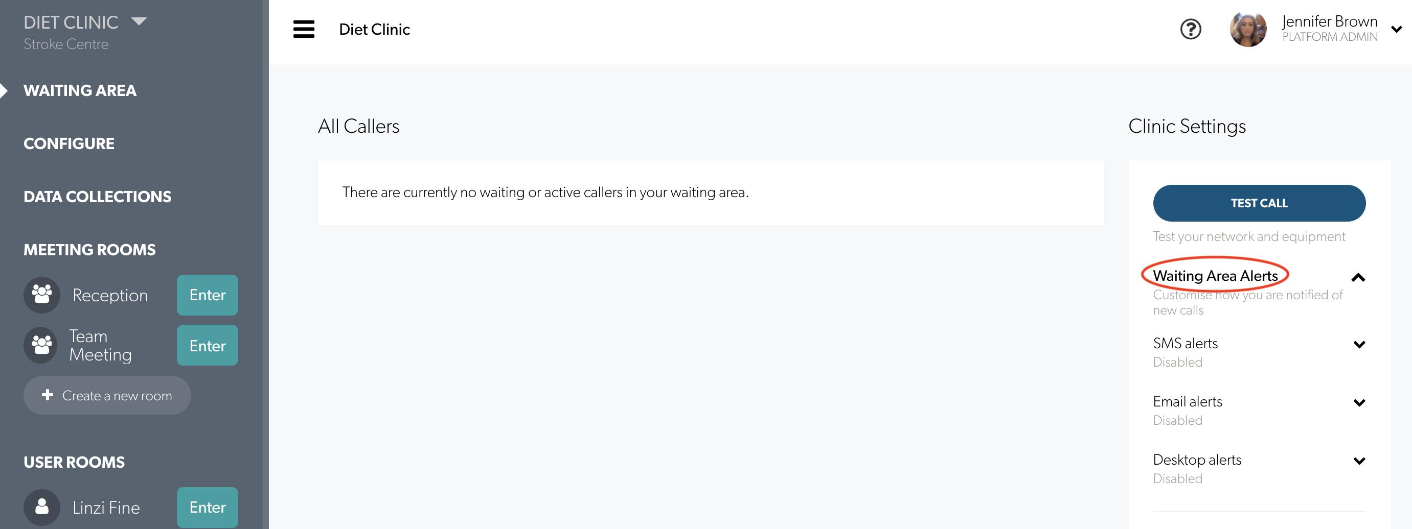 Enterprise Waiting Area Alerts