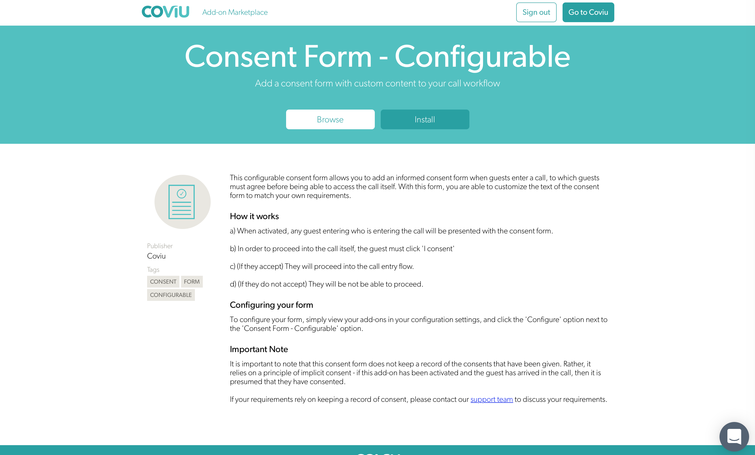 Consent for configuration
