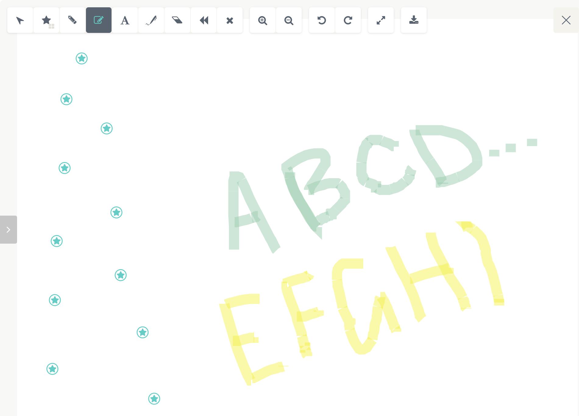 Virtual Whiteboard Example