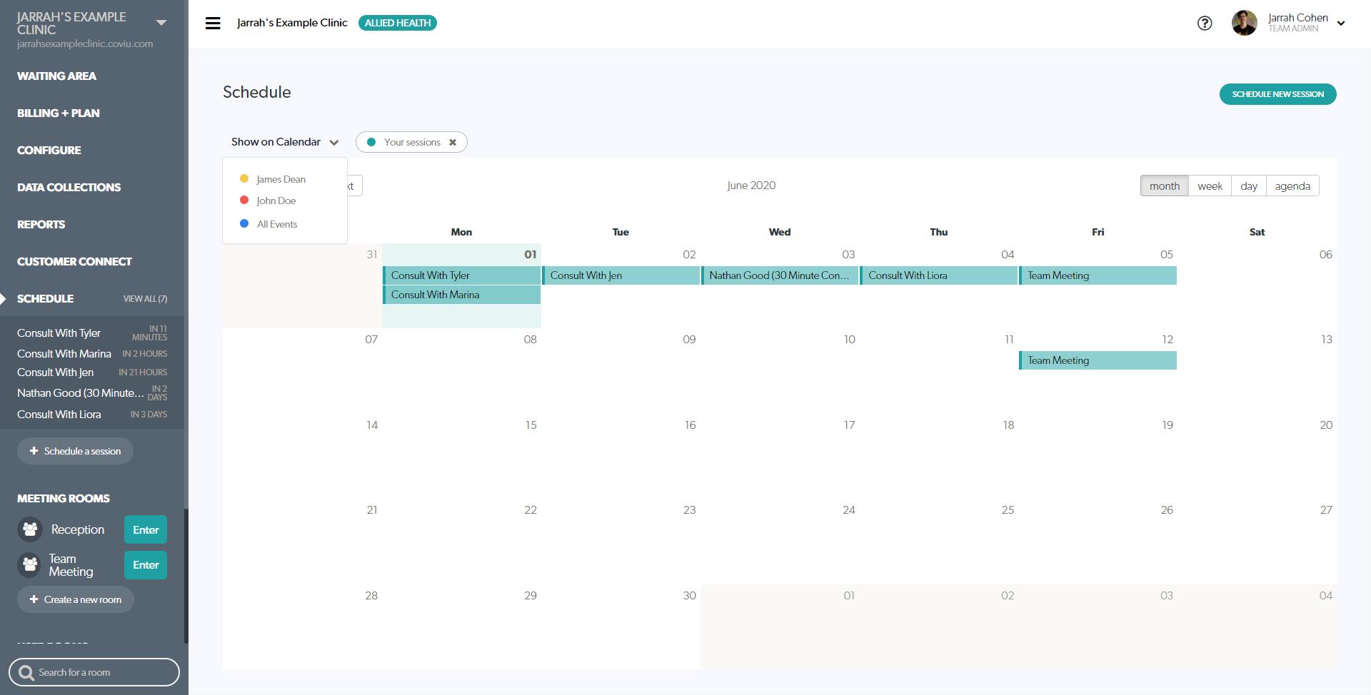 Calendar Appoitment Filtration