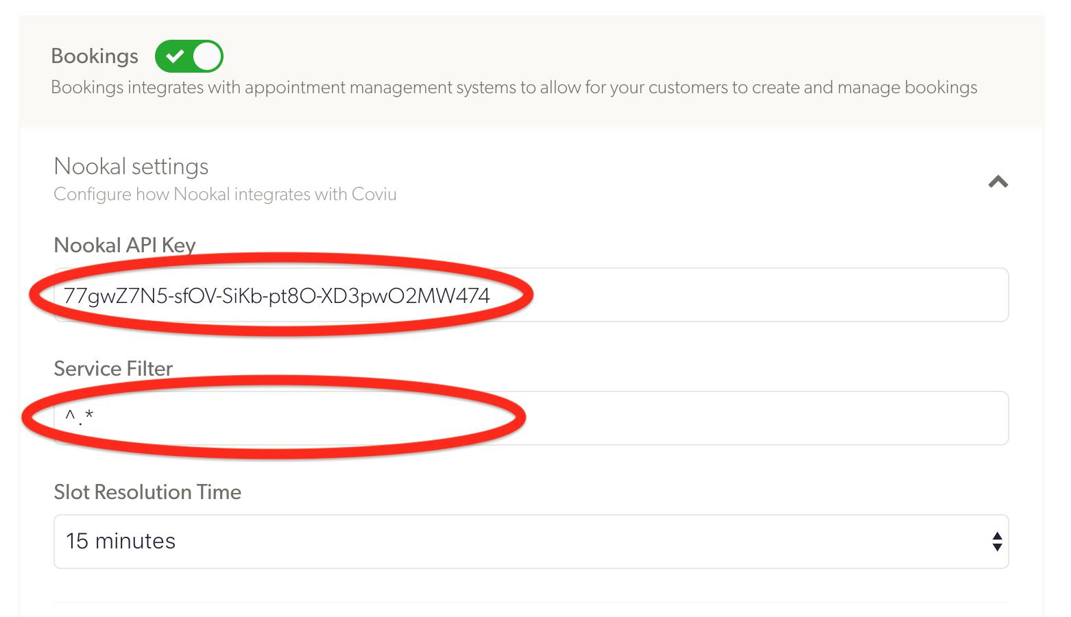 Nookal Integration API key