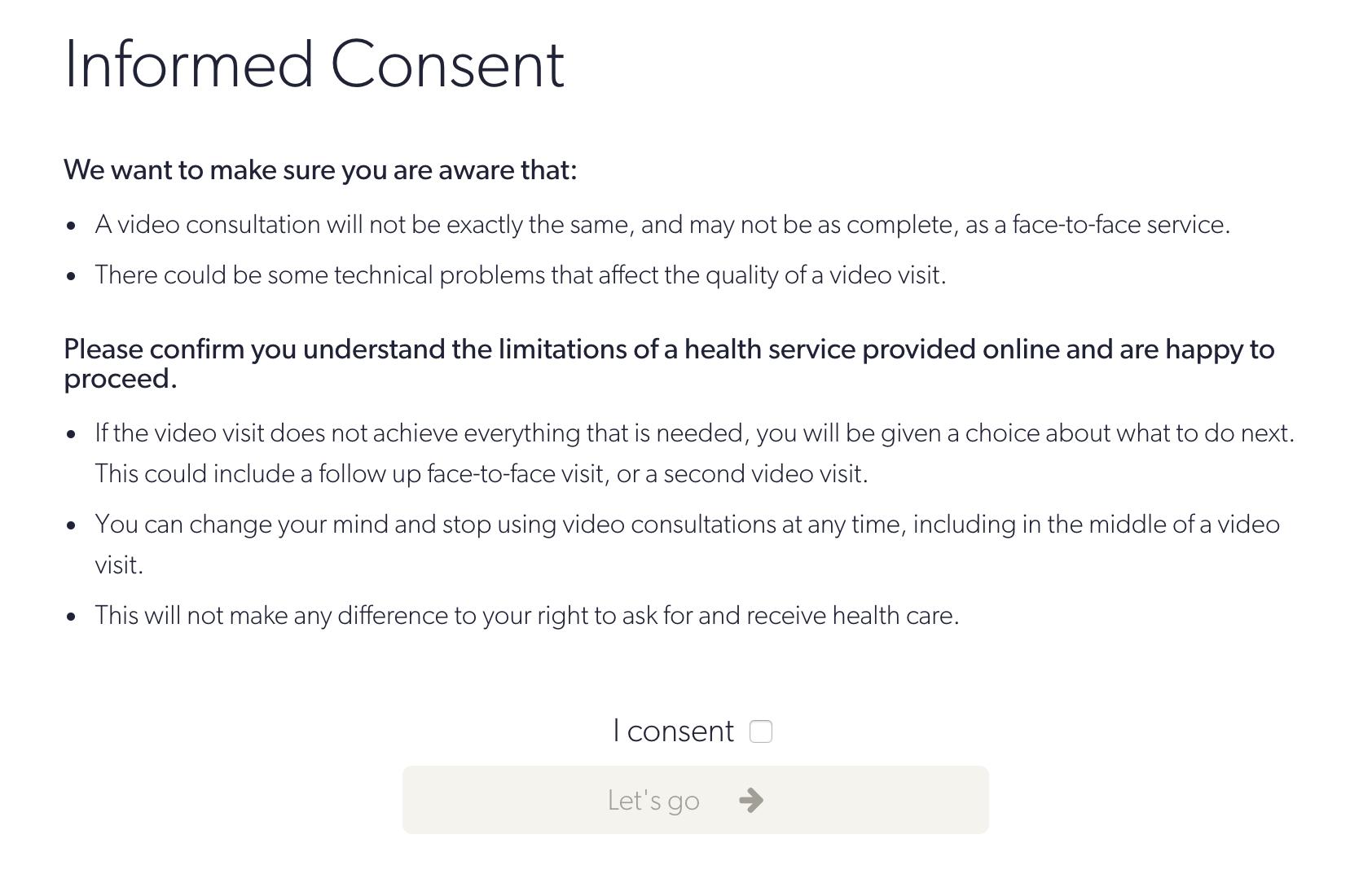 Coviu Consent Form