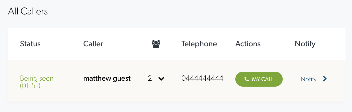 Call lock feature