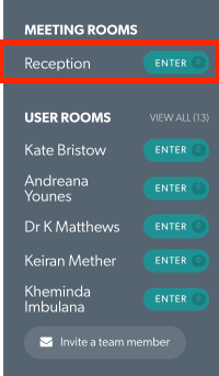 Meeting Room list