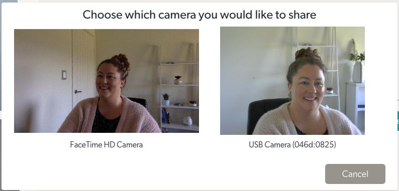 Choosing shareable camera