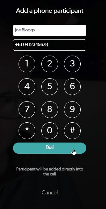Call keypad