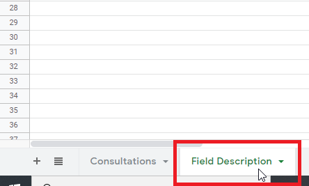 Field Description Explanatory Notes
