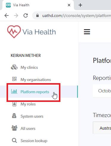 Coviu Platform Reports